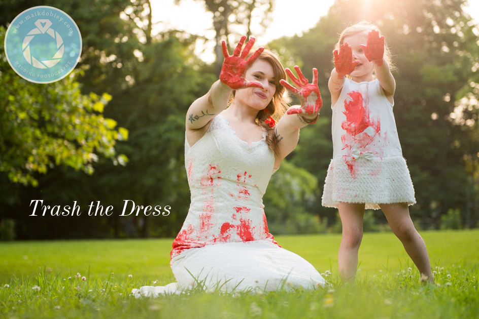 Mother And Daughter Trash The Dress